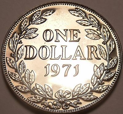 Huge Rare Proof Liberia 1971 Dollar~Only 3,012 Minted~Free Shipping