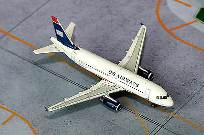 Gemini Jets US Airways Airbus A319 GJUSA1397 1/400, REG# N801AW. New