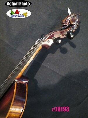 Carved Unicorn scrall SONG professional Concert 4/4 violin perfect sound #10193