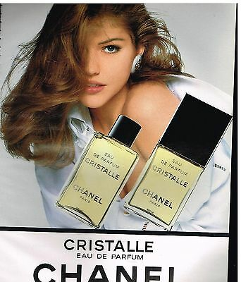 Publicité Advertising 1994 Eau de Parfum Cristalle de Chanel