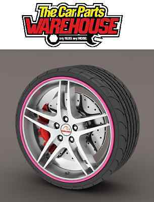 Rim Blades Alloy Wheel Protectors Colour wall strips PINK SS5135 Rimblades