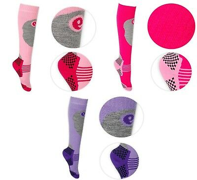 Girls Kids Thermal Ski Socks - Fully Cushioned Warm & Soft - Sizes Available LOT