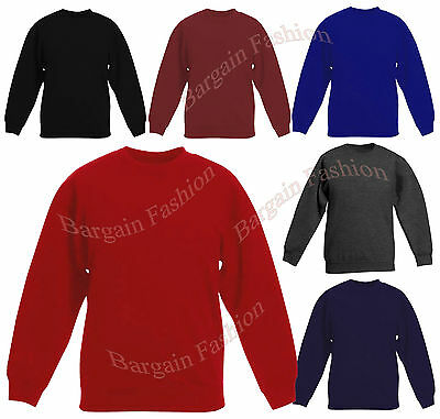 Brand New Kids Fleece Sweatshirts In Assorted Colours and Sizes Age 2-14 Years
