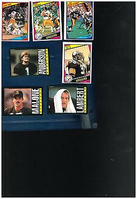 1984 1985 TOPPS Football Card Pittsburgh Steelers 26 card team sets