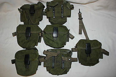 US Military Issue Vietnam Era Rifle 20RD Magazine Pouch 223 5.56 for 4 20RD Mags