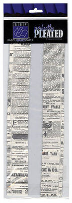 Bazzill Basics Paper Perfectly Pleated  Dictionary Print 4pcs   RETIRED       BF