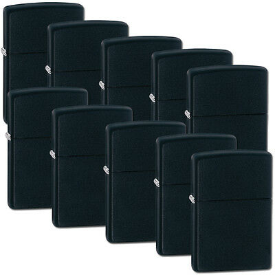 Zippo Lot Set of 10 Lighter Black Matte Lighters Model 218 NEW in Box