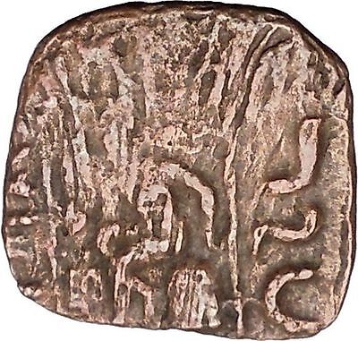 AZILISES 85BC INDO SKYTHIAN King Horse Hercules Ancient Greek Coin India i47067