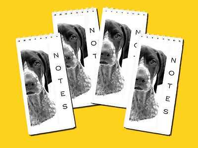 German Shorthaired Pointer Dog Small Slim Note Pads pack of 4, Gift Set