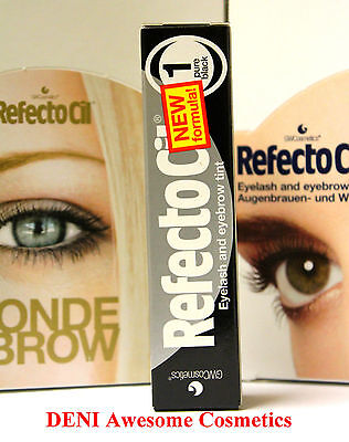 Sale !!! Refectocil Pure Black (No.1) Eyelash & Eyebrow Professional Tint