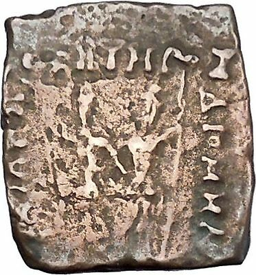 DIOMEDES 115BC Indo Greek Kingdom India DIOSCURI GEMENI BULL Ancient Coin i47080