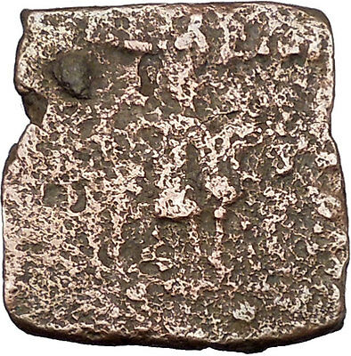 AZILISES 85BC INDO SKYTHIAN King on Horse Bull Ancient Greek Coin India i47059