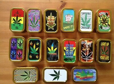 TOBACCO TIN 1oz ** Various Designs  Available **