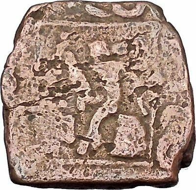 AZILISES 85BC INDO SKYTHIAN King Horse Hercules Ancient Greek Coin India i47068