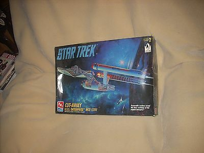 Star Trek U.s.s. Enterprise Ncc-1701, Cut-Away, 1/650, Sealed Inside, Nice !