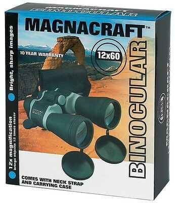 Magnacraft 12 x 60 Wide Angle Binoculars With Carrying Case And Neck Strap