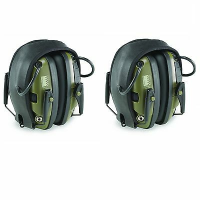 2-Pair Pack, Howard Leight R-01526 Impact Sport Electronic Shooting Ear Muffs