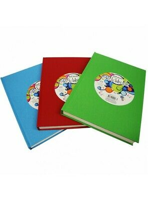 1pce Mont Marte Sketch Book A4 Hard Cover 220page 110gsm, 4 assorted Colours