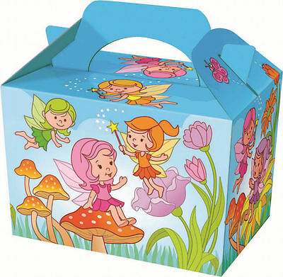 10 Fairy Party Boxes - Food Loot Lunch Cardboard Gift Kids