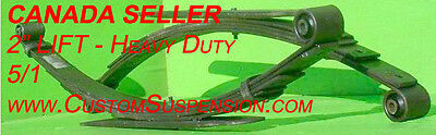 "Ford F250 F350 Superduty 1999 - 2007 Rear Lift Leaf Springs 2"" - Pair USA Steel"