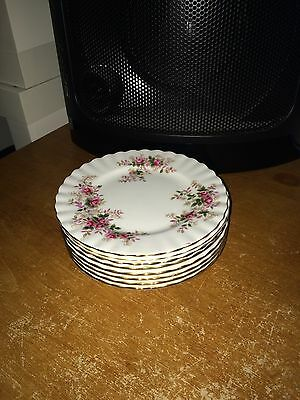 "4 X Royal Albert  ""Lavender Rose"" Pattern 6.25"" Tea Side Plates"
