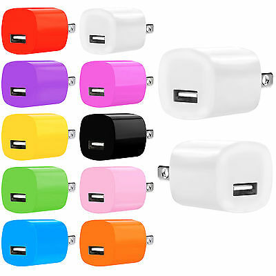 USB Power Adapter AC USB Wall Charger FOR iPhone 4S 5 5S 6 iPod Samsung HTC LOT