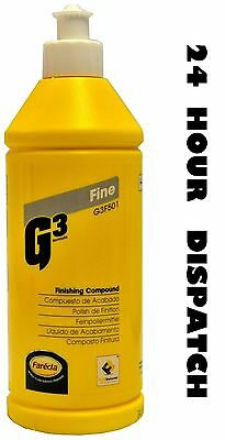 Farecla G3 Fine Finishing Compound 500g Size G3F501 Liquid Detailing 0.5kg