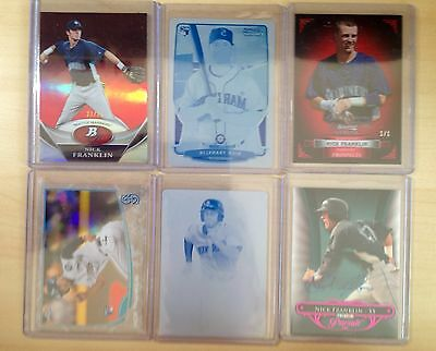 Huge Nick Franklin Auto Jersey RC Lot 1/1 Rays 2010 2013 Bowman