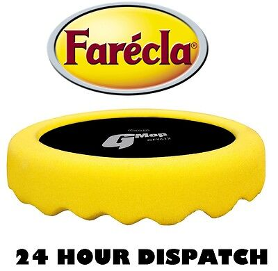 "FARECLA G Mop 6"" Yellow Waffle Pad 150mm 6"" Hook & Loop Head CFY612"