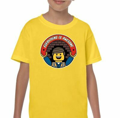 Everything Is Awesome Kids Funny Lego T-Shirt Ideal Birthday Present Boys Girls