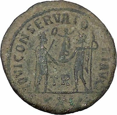 DIOCLETIAN receiving Victoryfrom JUPITER Tripolis Rare Ancient Roman Coin i46993