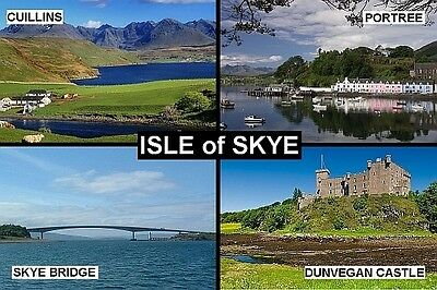 SOUVENIR FRIDGE MAGNET of THE ISLE OF SKYE SCOTLAND