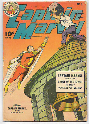 Captain Marvel Adventures #40 (Fawcett 1944 fn- 5.5) guide value: $127 (£95.50)