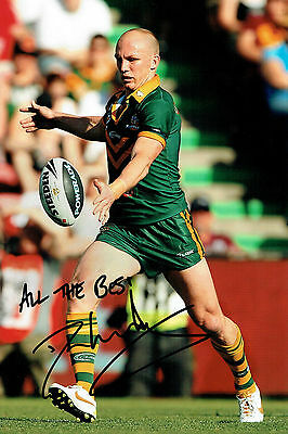 Darren LOCKYER Signed Autograph Rugby Action Photo AFTAL COA Australia World Cup