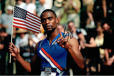 Tyson GAY Autograph 12x8 Signed Photo AFTAL COA American Athlete SPRINTER USA