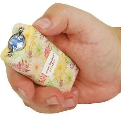 12 Million Volt FLOWER DESIGN Self Defense KEYRING Stun Gun + FREE taser HOLSTER