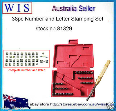38 Pieces Metal Punch Stamps Numbers & Letter Stamping Tool Kit,4mm-81329