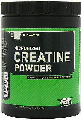 NEW Optimum Nutrition Creatine Powder Unflavored 300g Micronized Monohydrate