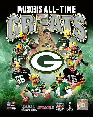 Green Bay Packers All-Time Greats LICENSED Photo Rodgers Favre Lombardi Star