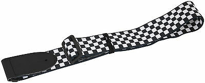 1517 CHECKERED SKA CHECK squares guitar STRAP leather head 19MUSIC special DEAL