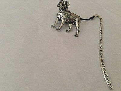 D15 Rottweiler bookmark with cord 3D English pewter charm