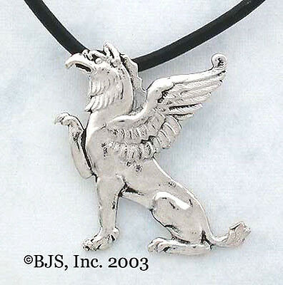 Sterling Silver Griffin Necklace, Griffin Jewelry, Made In the USA, New
