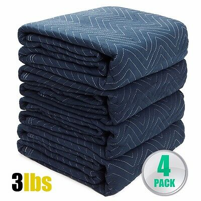 """4pc Moving Blankets Bundle 72x80"""" Econo Professional Quilted Moving Pads packing"""