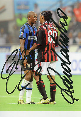 Photo Eto'o et Ronaldinho signature autographe E1!!!!!!!!!!!!!!!!!!!!!!!!!!!!!!!