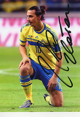 Photo Zlatan Ibrahimovic signature autographe E1!!!!!!!!!!!!!!!!!!!!!!!!!!!!!!!!