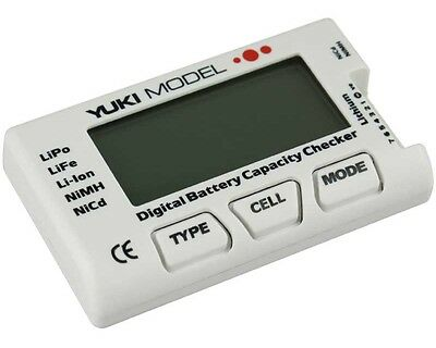 YUKI MODEL Digital Battery Capacity Checker 2-7s LiPo/LiFe/Li-Ion Akku Tester