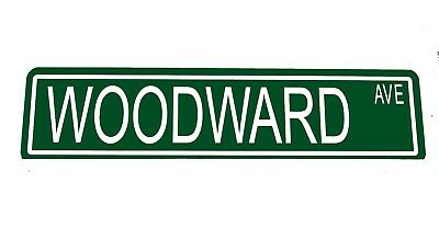"Metal Custom Street Sign ""Woodward Ave"" Detroit Strip Hot Rod Car  41057z"