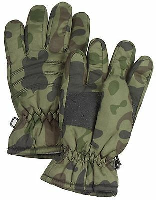 Kid's Insulated Camo Winter Gloves - Boys Warm Thermoblock Camouflage Ski Gloves