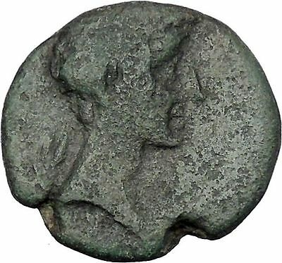 AUGUSTUS 27BC Thessaly Koinon ATHENA Authentic Ancient Roman Coin RARE i47209