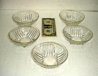 5 Vintage Estate Federal Glass Co. Bowls, Empire Period ?
